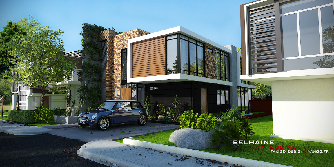 Sketchup Front Elevation : Hướng dẫn render vray ngoại thất trong sketchup for